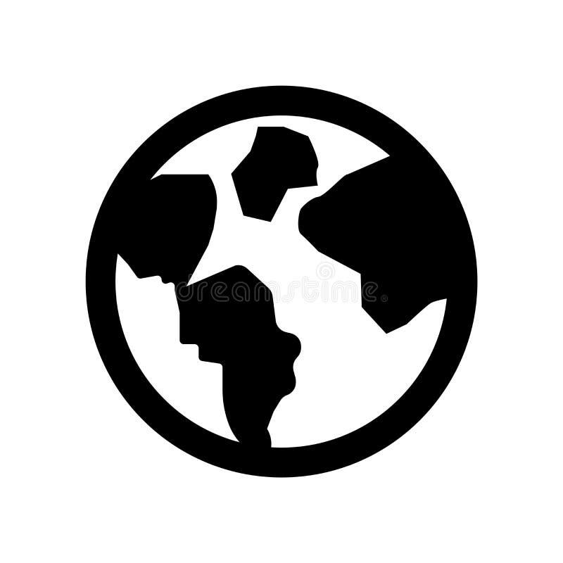 Vector del icono de la tierra del planeta aislado en el fondo blanco, muestra de la tierra del planeta, símbolos del eco stock de ilustración