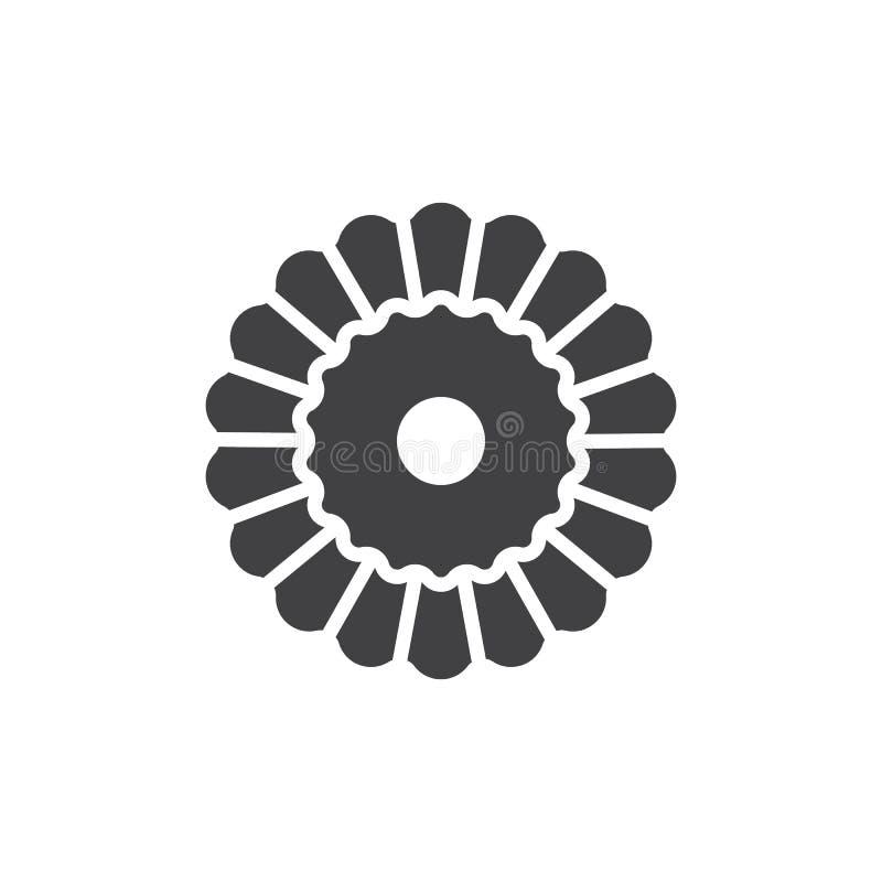 Vector del icono de la torta de la Navidad stock de ilustración
