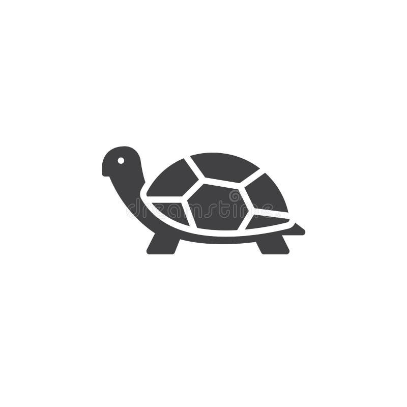 Vector del icono de la tortuga, muestra plana llenada ilustración del vector