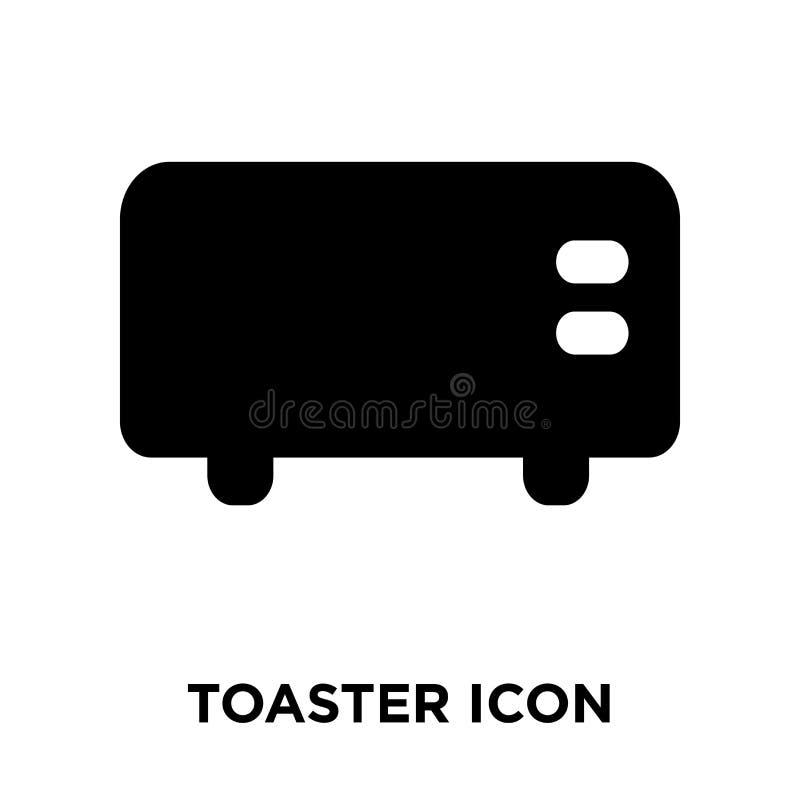 Vector del icono de la tostadora aislado en el fondo blanco, concepto o del logotipo libre illustration