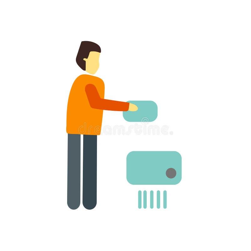 Vector del icono de la trituradora aislado en el fondo blanco, muestra de la trituradora ilustración del vector