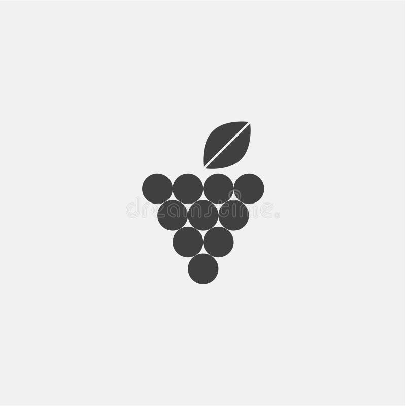Vector del icono de la uva libre illustration