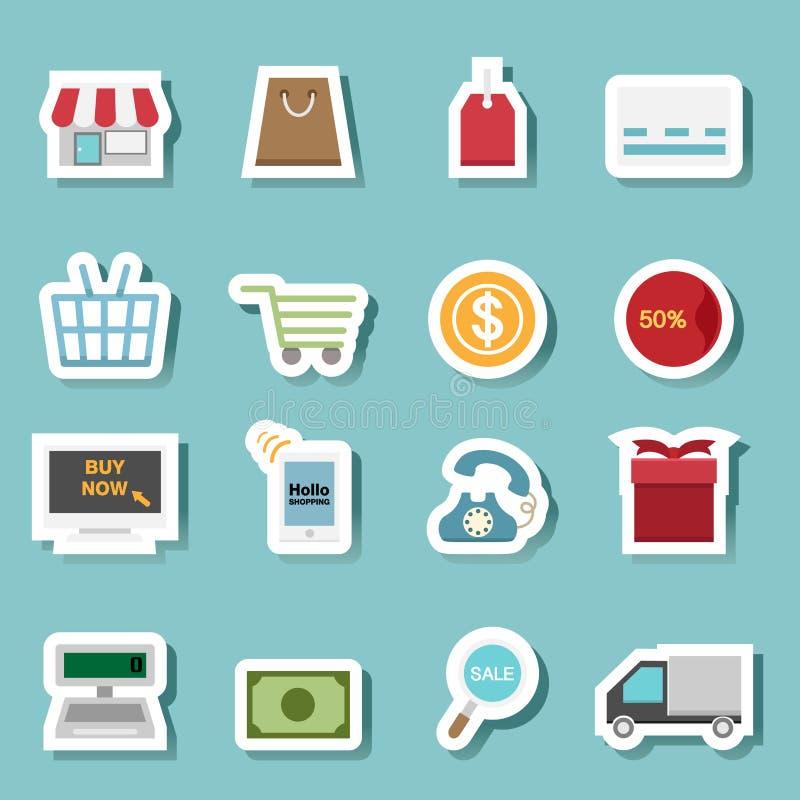 Vector del icono de las compras ilustración del vector