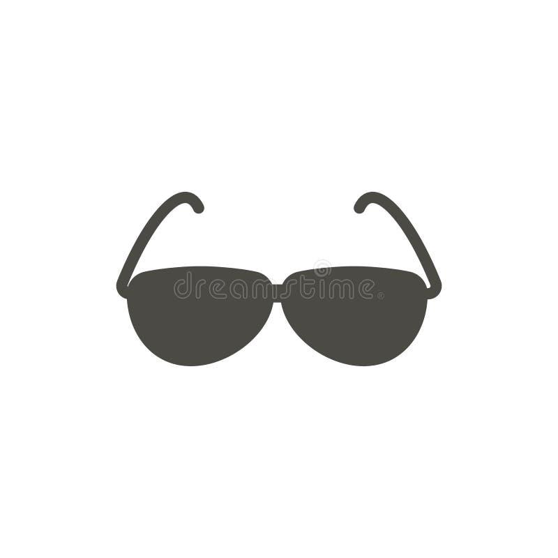 Vector del icono de las gafas de sol Símbolo de los vidrios del verano aislado Diseño plano de moda de la muestra del ui Gráfico  libre illustration