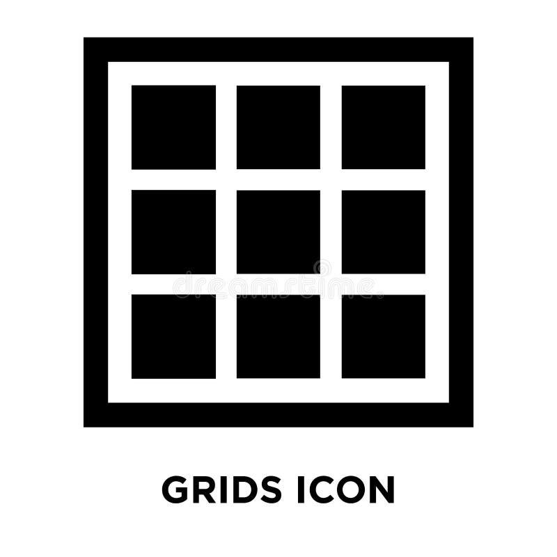 Vector del icono de las rejillas aislado en el fondo blanco, concepto del logotipo de ilustración del vector