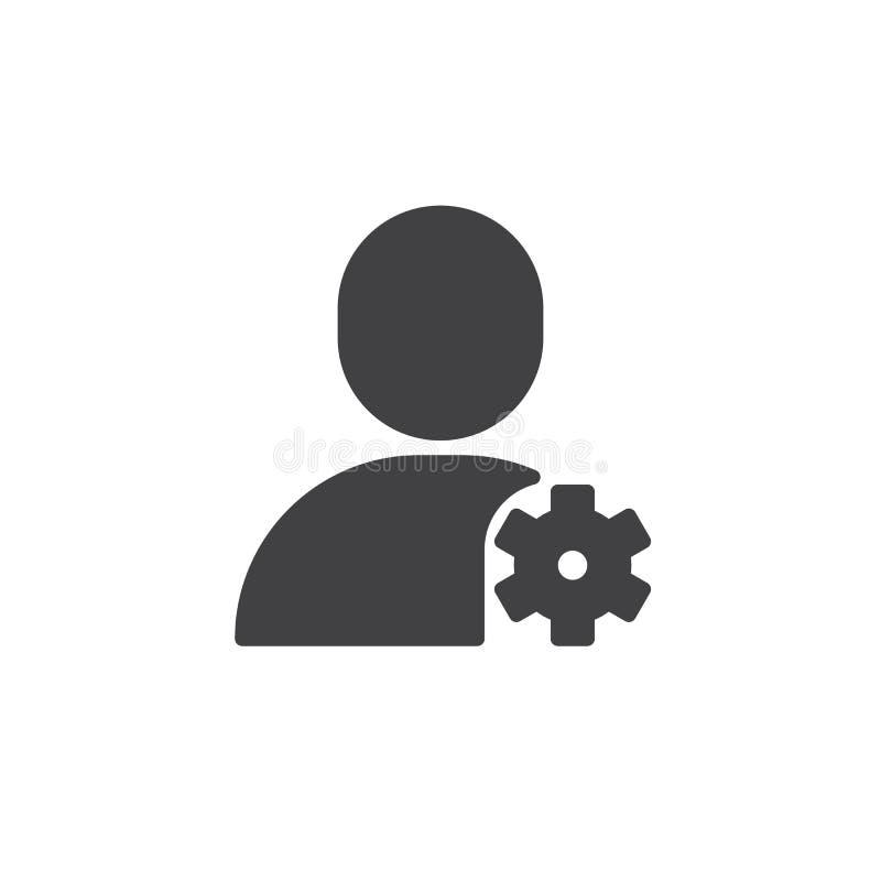Vector del icono de los ajustes de la cuenta ilustración del vector