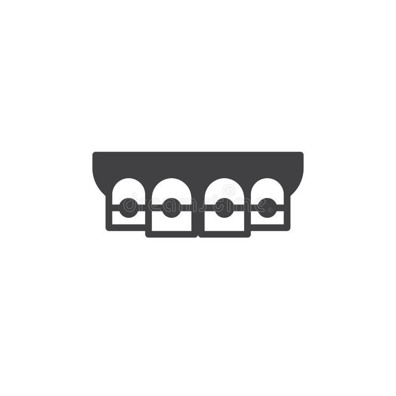 Vector del icono de los apoyos ortodónticos ilustración del vector