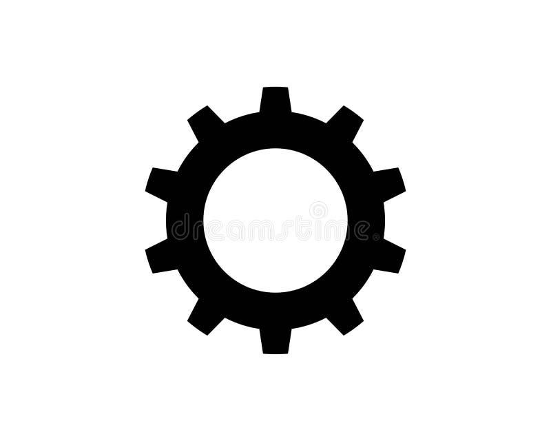 Vector del icono de los engranajes ilustración del vector