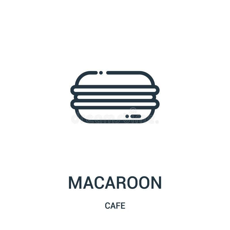 vector del icono de los macarrones de la colección del café Línea fina ejemplo del vector del icono del esquema de los macarrones ilustración del vector
