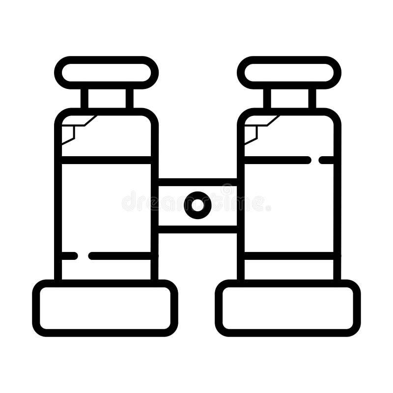 Vector del icono de los prismáticos ilustración del vector