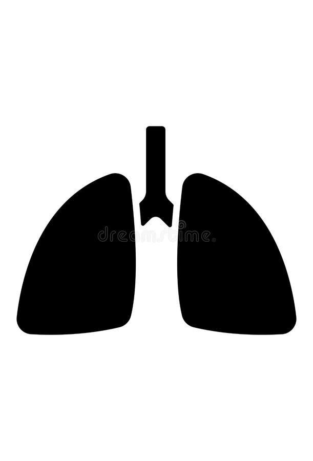 Vector del icono de los pulmones ilustración del vector