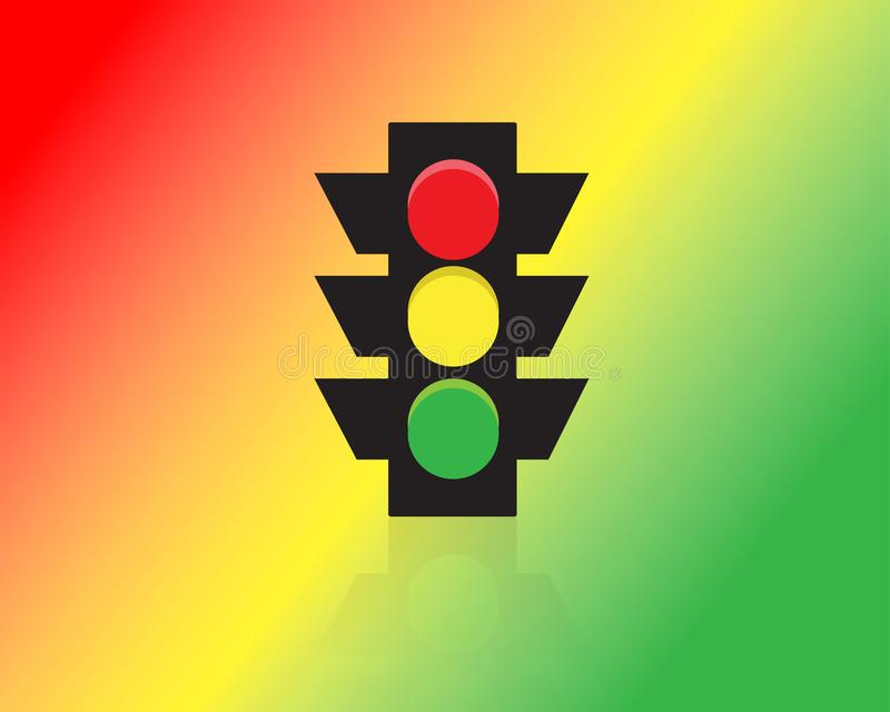 Vector del icono de los semáforos imagen de archivo libre de regalías