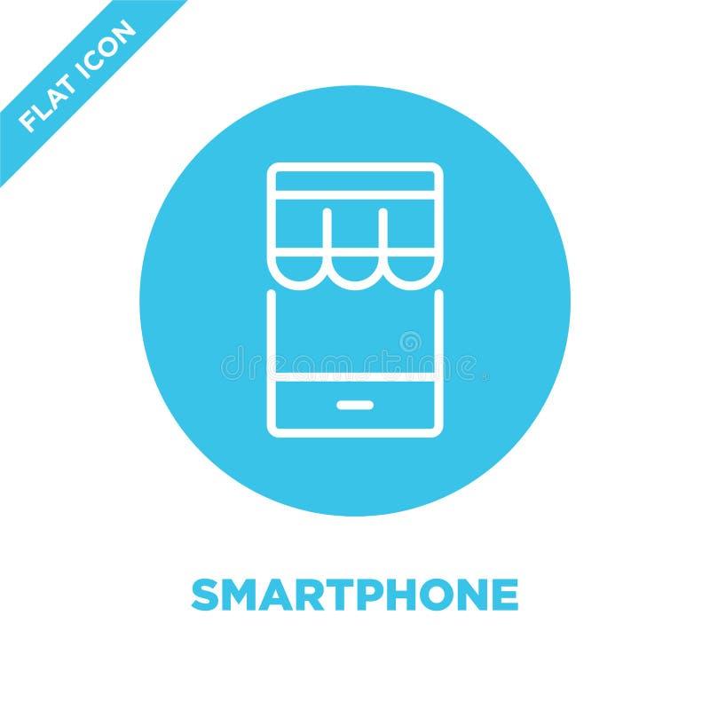 Vector del icono de Smartphone Línea fina ejemplo del vector del icono del esquema del smartphone símbolo del smartphone para el  stock de ilustración
