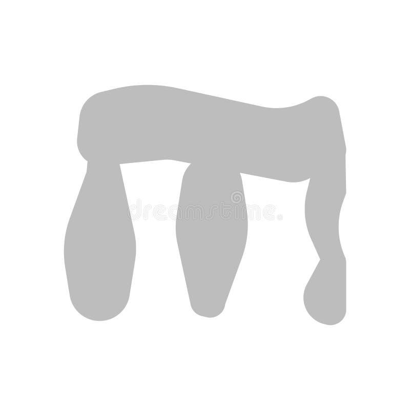 Vector del icono de Stonehenge aislado en el fondo blanco, muestra de Stonehenge, símbolos históricos de la Edad de Piedra ilustración del vector