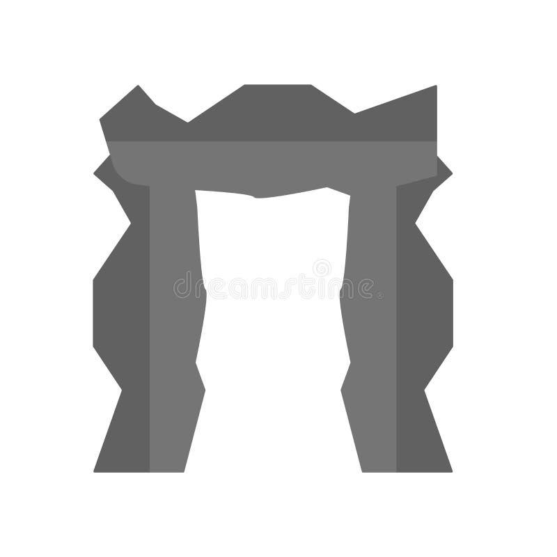 Vector del icono de Stonehenge aislado en el fondo blanco, muestra de Stonehenge, símbolos de la historia antigua ilustración del vector