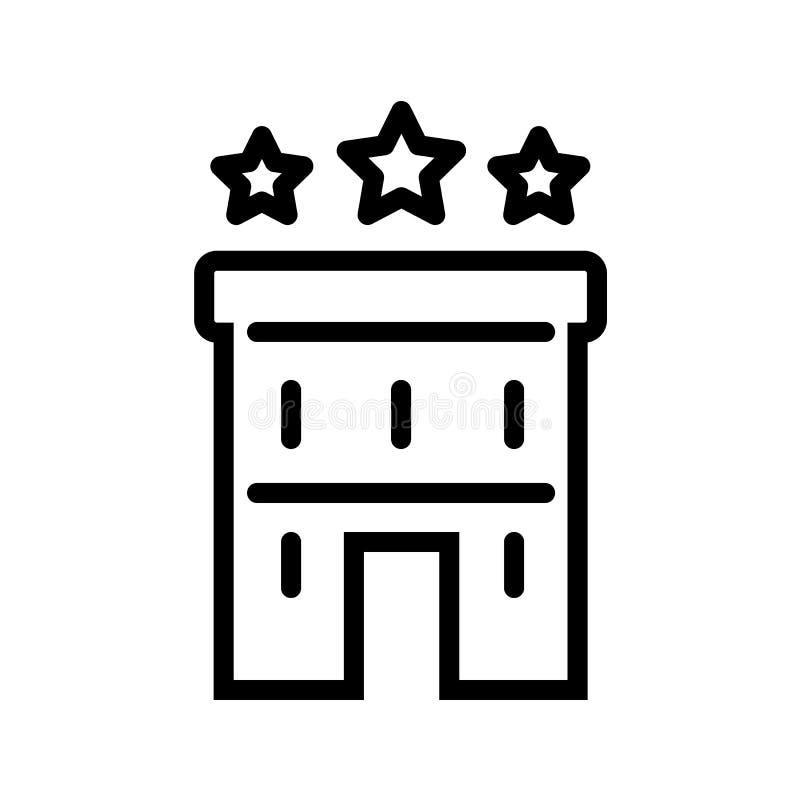 Vector del icono de tres StarsHotel ilustración del vector