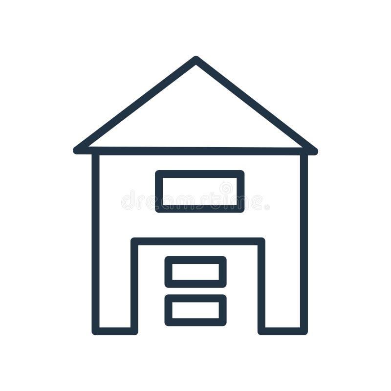 Vector del icono de Warehouse aislado en el fondo blanco, muestra de Warehouse libre illustration