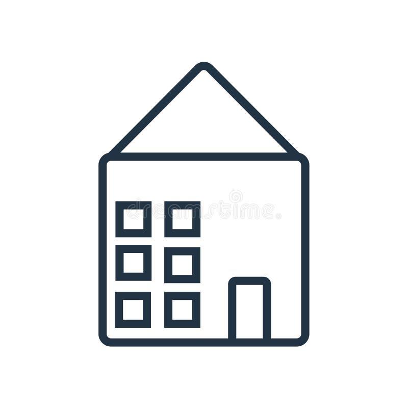 Vector del icono de Warehouse aislado en el fondo blanco, muestra de Warehouse ilustración del vector
