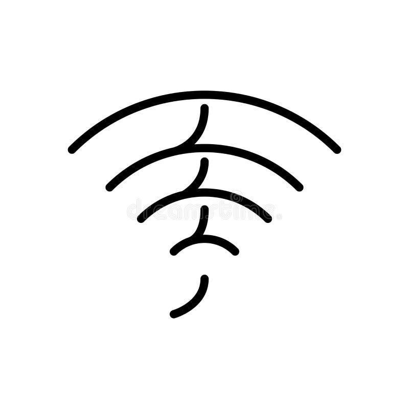 Vector del icono de Wifi aislado en el fondo, la muestra de Wifi, la línea y los elementos blancos del esquema en estilo linear libre illustration
