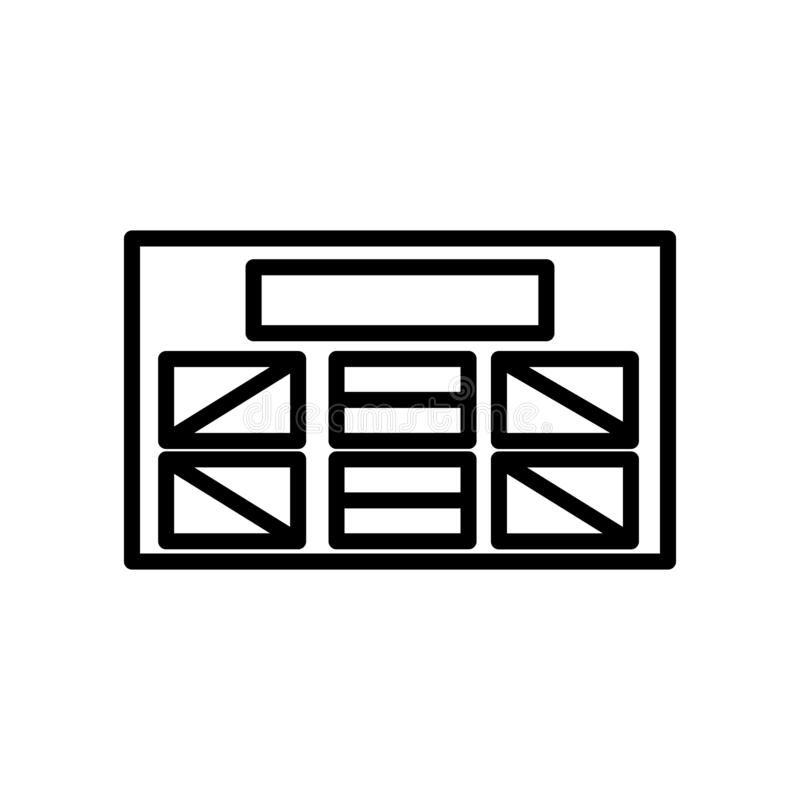 Vector del icono de Wireframe aislado en el fondo, la muestra de Wireframe, la línea y los elementos blancos del esquema en estil libre illustration