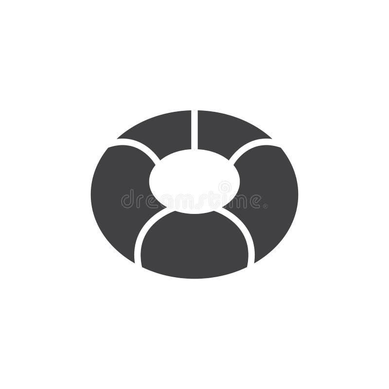 Vector del icono del anillo de la nadada libre illustration