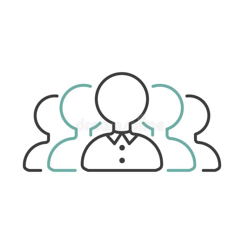 Vector del icono del esquema del trabajo en equipo del negocio libre illustration