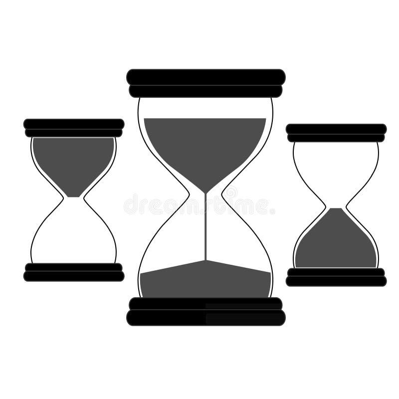 Vector del icono del reloj de arena ilustración del vector