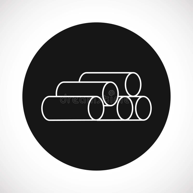 Vector del icono del tubo stock de ilustración