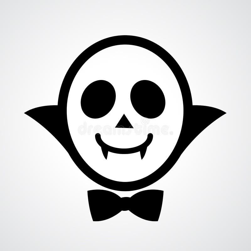 Vector del icono del vampiro ilustración del vector
