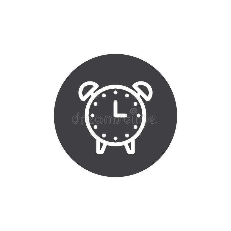 Vector del icono del despertador stock de ilustración