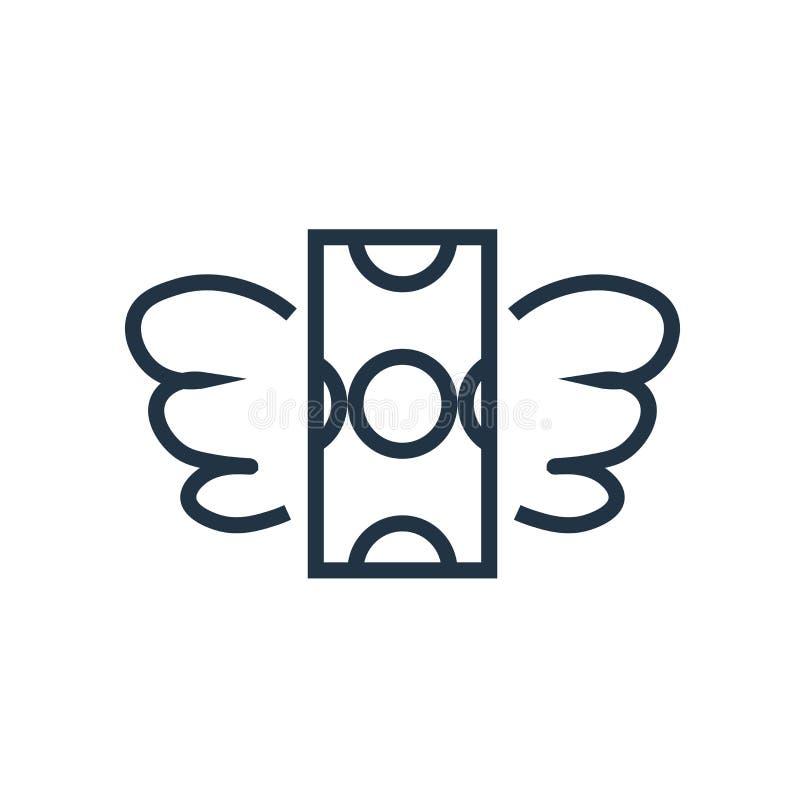 Vector del icono del dinero aislado en el fondo blanco, muestra del dinero libre illustration