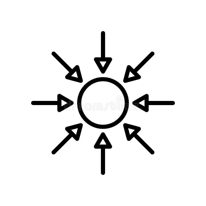 Vector del icono del disco compacto aislado en el fondo blanco, la muestra del disco compacto, la línea y elementos del esquema e libre illustration