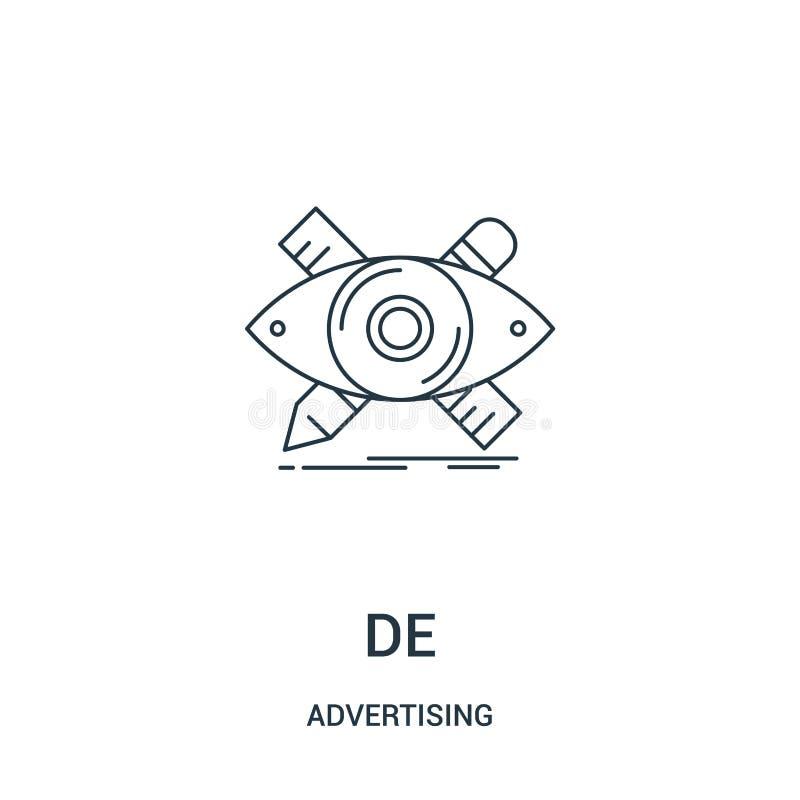 vector del icono del diseñador de hacer publicidad la colección Línea fina ejemplo del vector del icono del esquema del diseñador ilustración del vector
