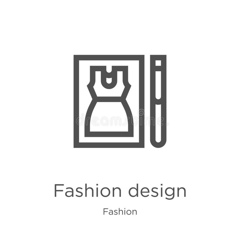 vector del icono del diseño de la moda de la colección de la moda Línea fina ejemplo del vector del icono del esquema del diseño  libre illustration