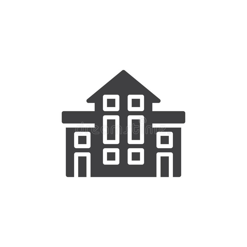 Vector del icono del edificio del hotel libre illustration