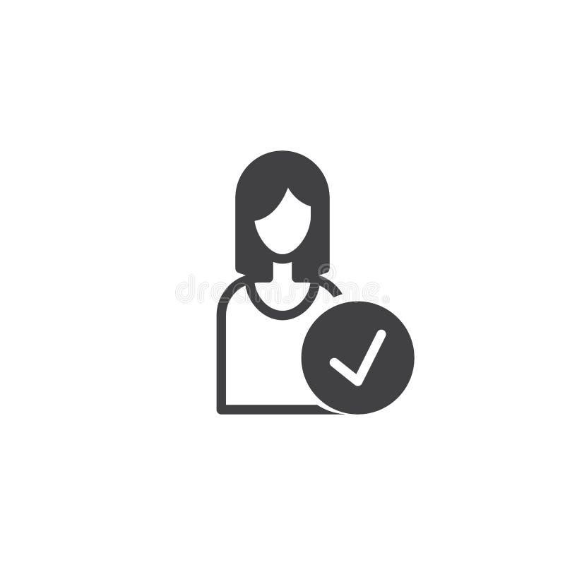 Vector del icono del empleado stock de ilustración