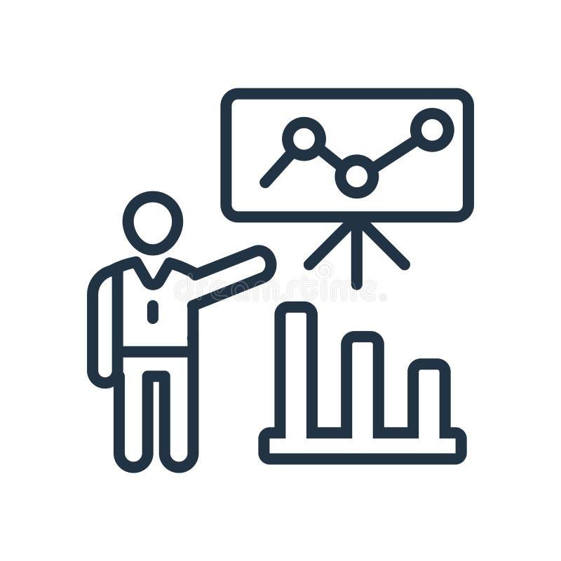 Vector del icono del entrenamiento aislado en el fondo blanco, muestra del entrenamiento stock de ilustración