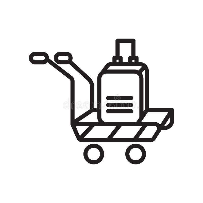 Vector del icono del equipaje aislado en el fondo blanco, la muestra del equipaje, el símbolo linear y elementos del diseño del m libre illustration
