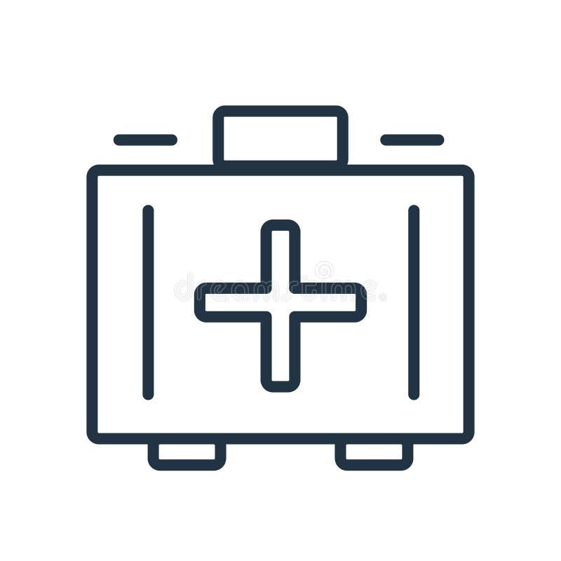 Vector del icono del equipo de primeros auxilios aislado en el fondo blanco, primer ai libre illustration