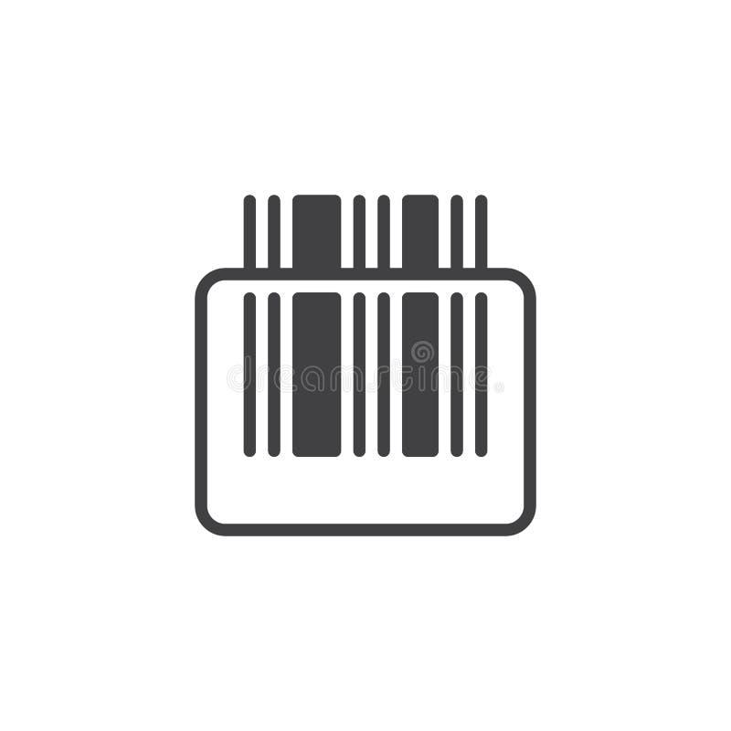 Vector del icono del escáner del código de barras ilustración del vector