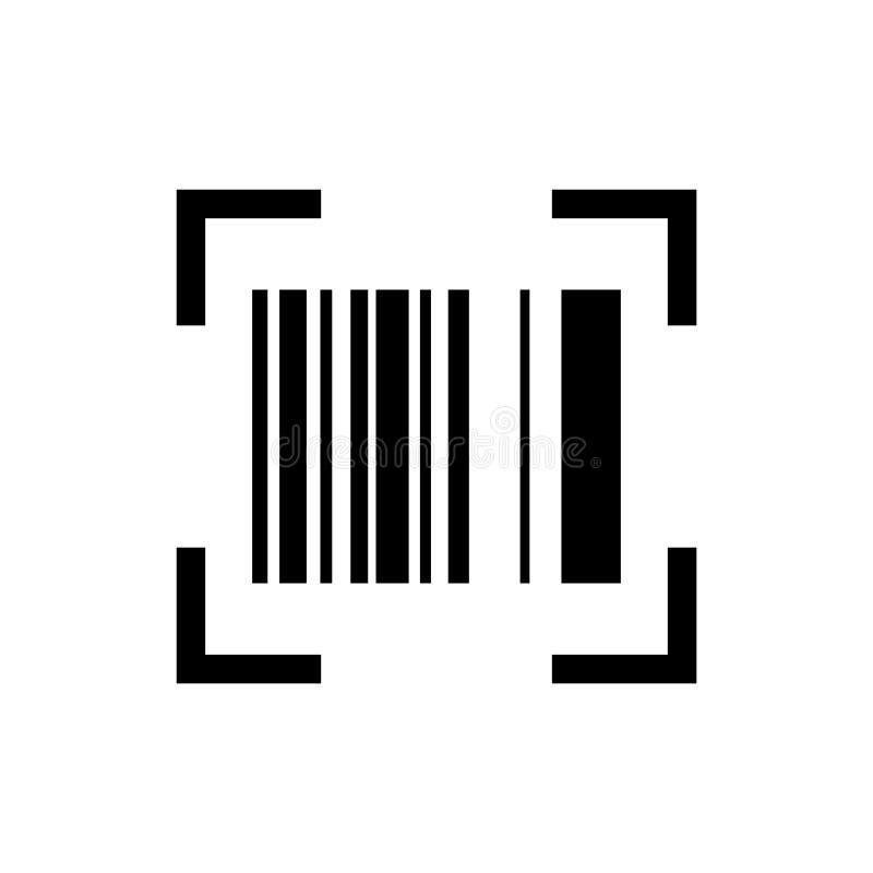 Vector del icono del escáner del código de barras para la web y las plataformas móviles stock de ilustración