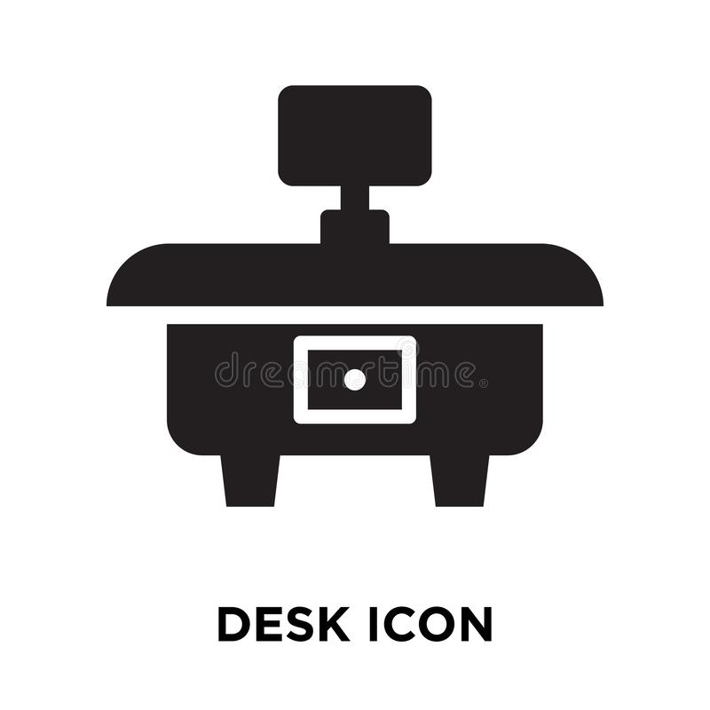 Vector del icono del escritorio aislado en el fondo blanco, concepto del logotipo de D ilustración del vector