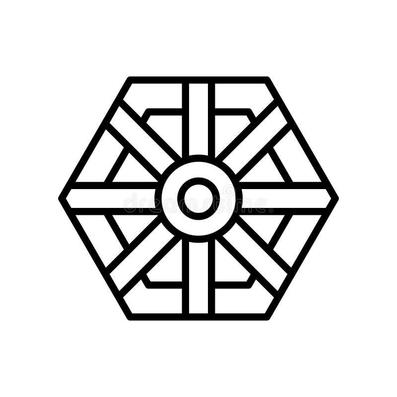 Vector del icono del espejo del kua del PA aislado en el fondo blanco, muestra del espejo del kua del PA stock de ilustración