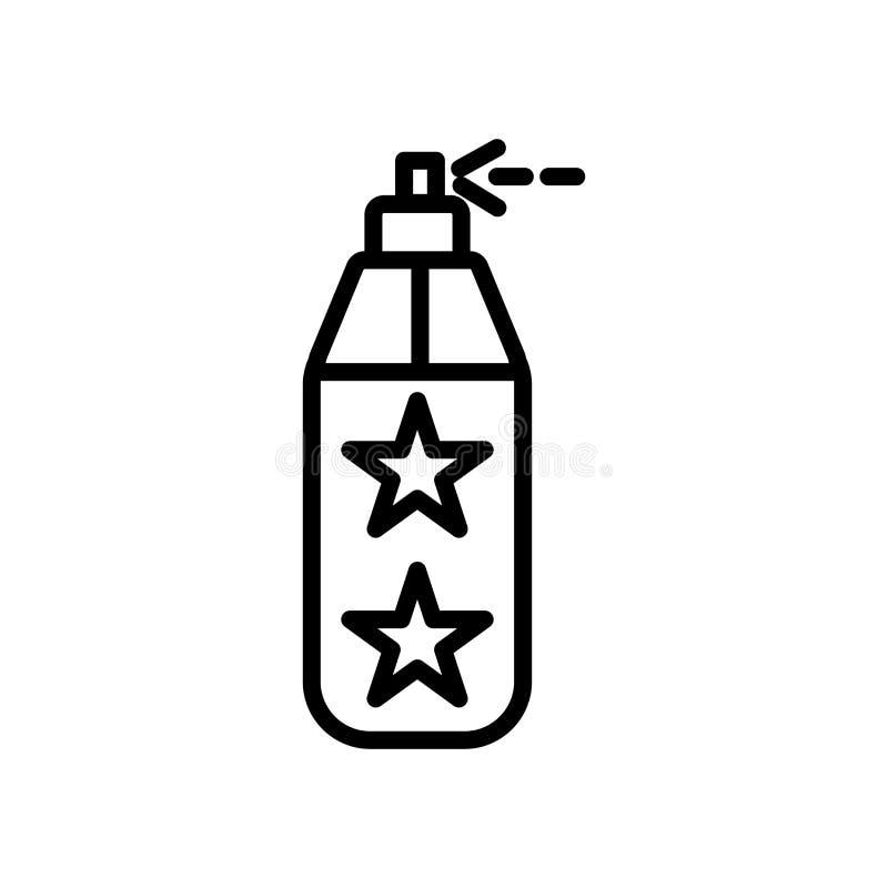 Vector del icono del espray de la pintura aislado en la muestra blanca del fondo, del espray de la pintura, la línea y elementos  ilustración del vector