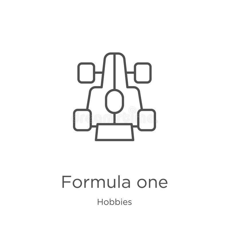 vector del icono del Fórmula 1 de la colección de las aficiones Línea fina ejemplo del vector del icono del esquema del Fórmula 1 stock de ilustración