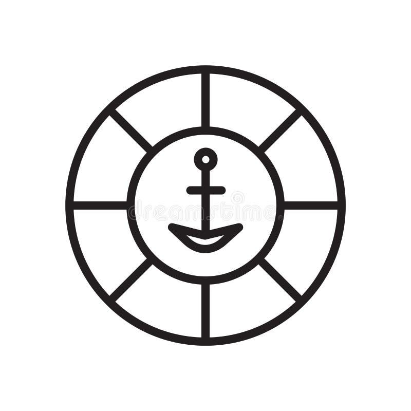 Vector del icono del flotador aislado en el fondo blanco, la muestra del flotador, el símbolo linear y elementos del diseño del m ilustración del vector