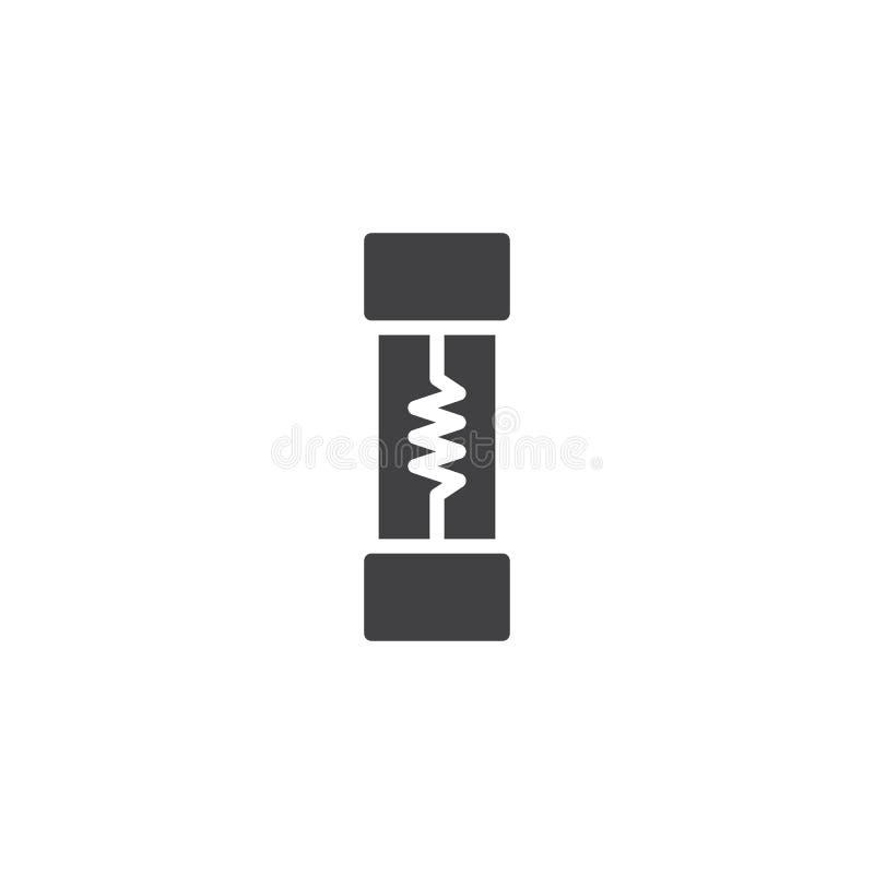 Vector del icono del fusible eléctrico stock de ilustración