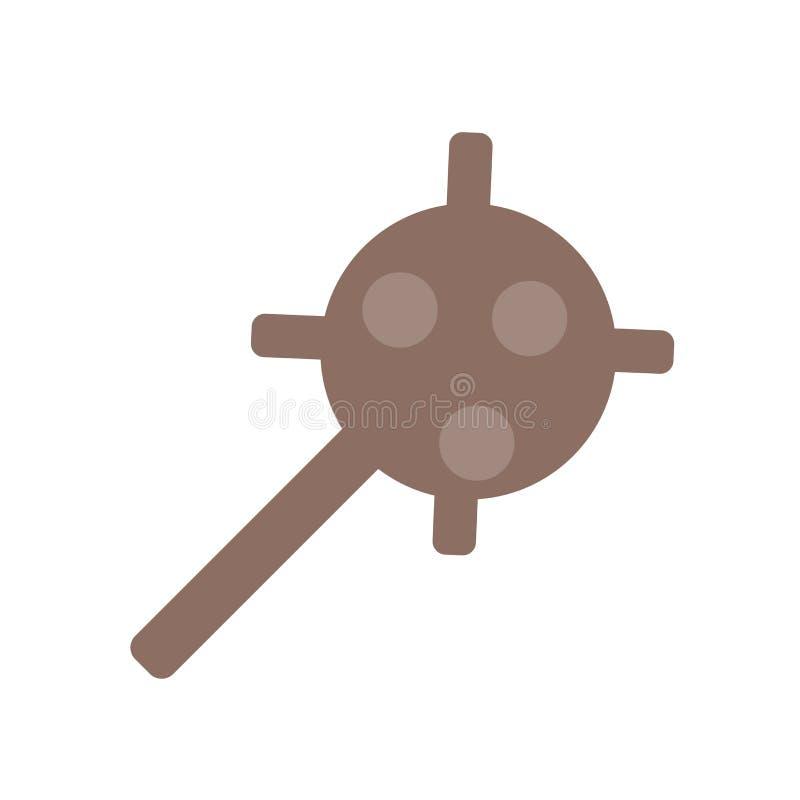 Vector del icono del garrote aislado en el fondo blanco, muestra del garrote, símbolos históricos de la Edad de Piedra stock de ilustración