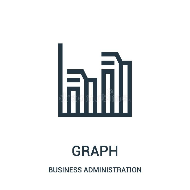 vector del icono del gráfico de la colección de la administración de empresas L?nea fina ejemplo del vector del icono del esquema libre illustration