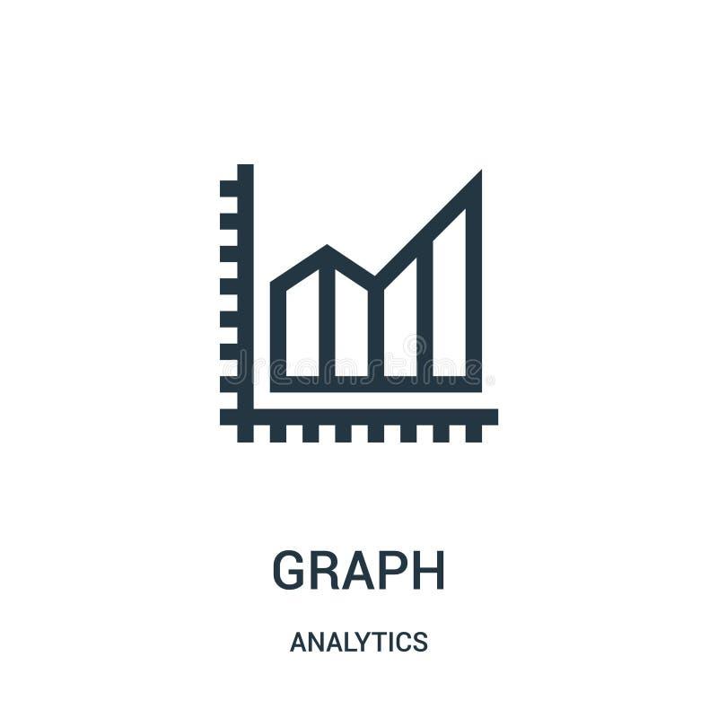 vector del icono del gráfico de la colección del analytics Línea fina ejemplo del vector del icono del esquema del gráfico libre illustration